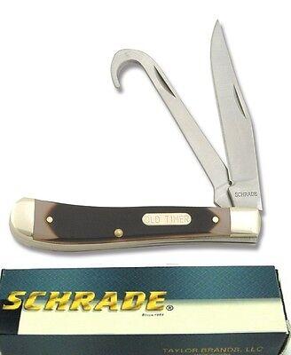 - Schrade pocket knife Equestrian's Horse Hoof and hay Bird hook knife Old Timer