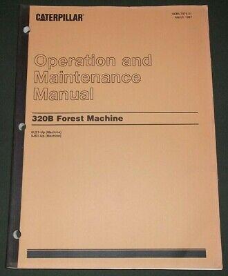 Cat Caterpillar 320b Forest Machine Excavator Operation Maintenance Manual Book