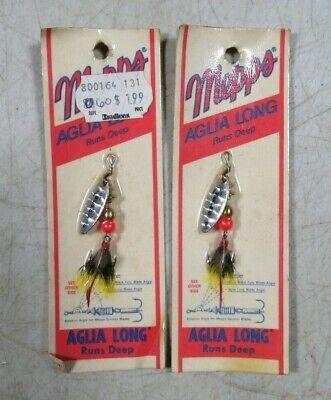 Vintage Mepps Aglia Long Runs Deep OLD STOCK #3 Black Single