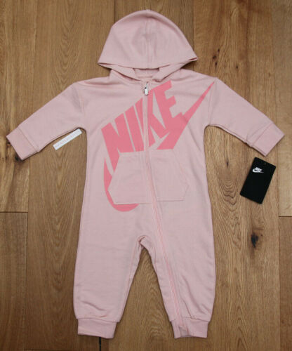 Nike Baby Girl Hooded Coverall ~ Coral & Pink ~