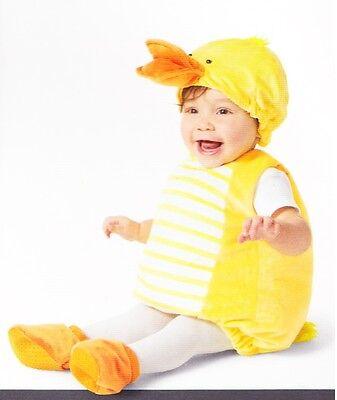 Baby Ducky Plüsch Kostüm 6-12 12-18 Kleinkind Mädchen - Gelbe Ducky Kostüme