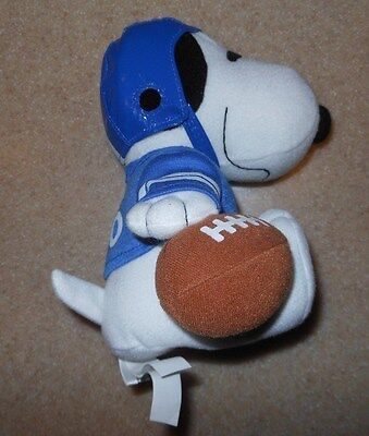 Rare Metlife Peanuts Snoopy Football Player With Helmet 7  Stuffed Plush Toy New