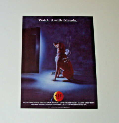 SCI-FI CHANNEL ORIGINAL FLYER PROMO PICTURE 1991 PREVIEW POSTER AD VINTAGE SYFY