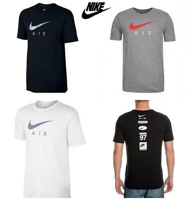 Cotton Blend Short Sleeve Shirt (Nike T Shirt Tri-Blend Air Hybrid Logo Mens Cotton Tee Short Sleeve Top S M L XL)