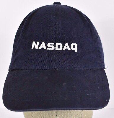 Navy Blue Nasdaq Stock Exchange Embroidered Baseball Hat Cap Adjustable Strap