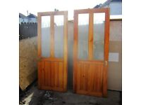 Internal glazed wooden doors