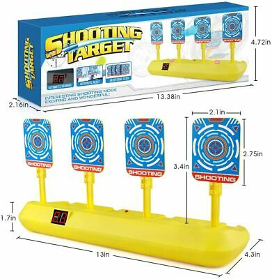 Electronic Shooting Target for Nerf Guns Auto Reset Digital Scoring Target Kid