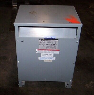 Square D 15 Kva Dry Type Transformer 480 Hv 208y120 Lv 3 Phase 15t3hfisnlp