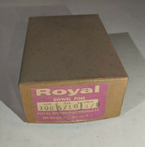 """Pack of 100 - 5/16"""" x 1-3/8"""" Royal Dowel Pins Alloy Steel"""