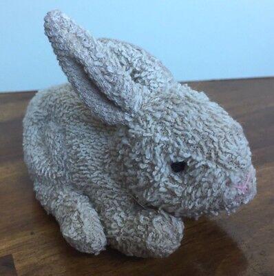 "Russ Home Buddies Bunny Rabbit Terry Tan 5"" Plush Stuffed Bean Bag Toy Easter"