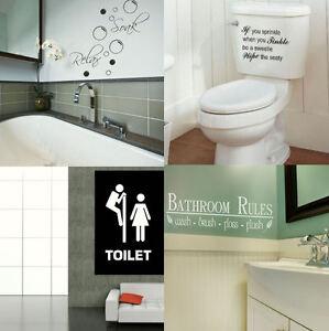 Bagno citazioni da parete grande toilette bagno adesivo - Toilette da bagno ...