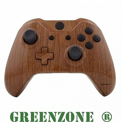 Woodgrain Xbox One Replacement Controller Shell Mod Kit with Buttons Mod Kit