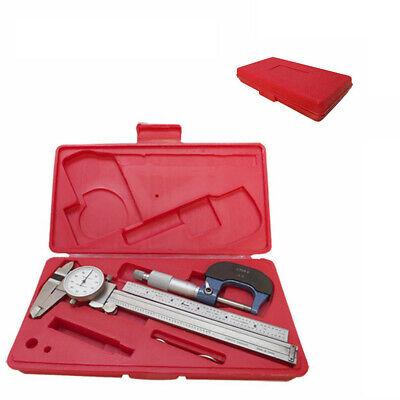 6 Mechanical Dial Caliper Micrometer Measure Outside Inside Ruler Inspection