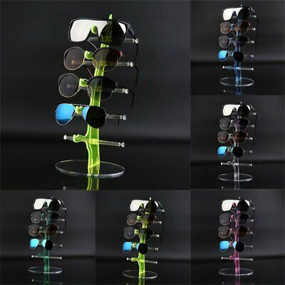 Plastic 5 Pair Sunglasses Glasses Show Rack Counter Display Stand Holder Nd