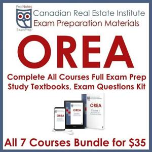 OREA Real Estate License Exam Tutor Course Textbooks, Actual Exam Questions & Study Notes RECO Kit 2019 Licensing