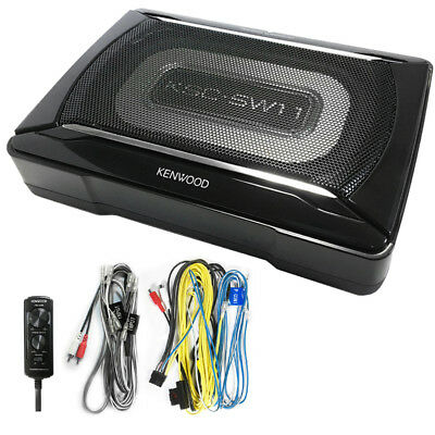 Kenwood Ksc Sw11 Compact Powered Enclosed Subwoofer For Car