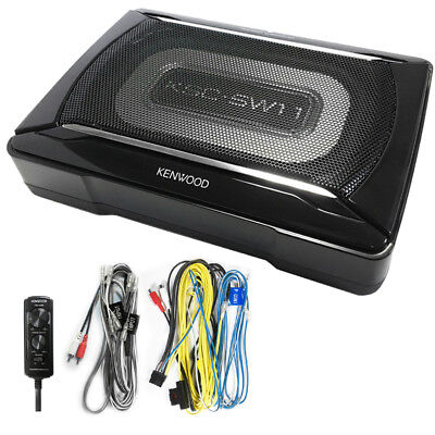 Kenwood KSC-SW11 Compact Powered Enclosed Subwoofer for CAR