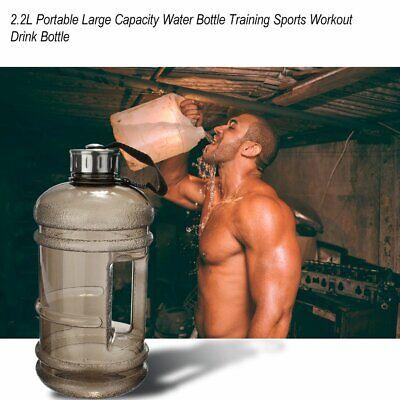 Large Water (2.2L PETG Large Capacity Water Bottle Training Sports Workout Drink Bottle ND )