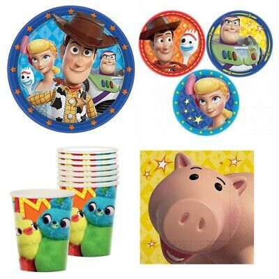 Disney Toy Story 4 Combo Party Express Pack for 8 Guests (Cups Napkins & Plates)