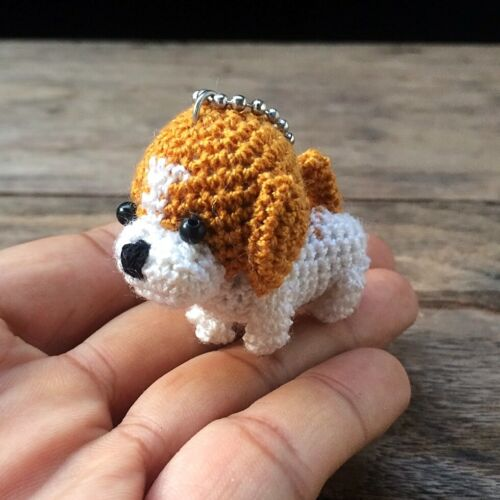 New Beagle Dog Crochet Amigurumi Handmade Keychains Keyring Collectibles Gift