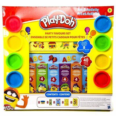 Play Doh Party Favors (Play-Doh Party Favor Set 40-Pieces Crayons, activity books,)