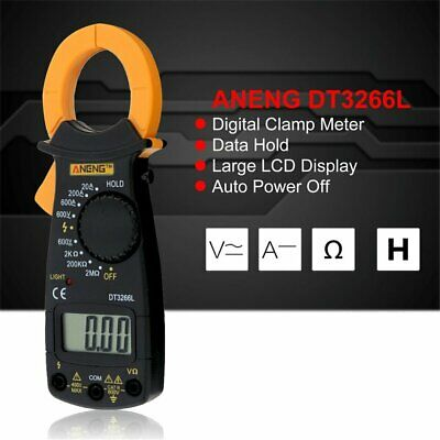 Aneng Dt3266l Digital Clamp Ammeter Ac Dc Ammeter Diode Fire Wire Tester Nd
