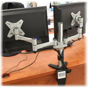 Elegant aluminum LCD VESA desk mounts for  13''-27'' monitors