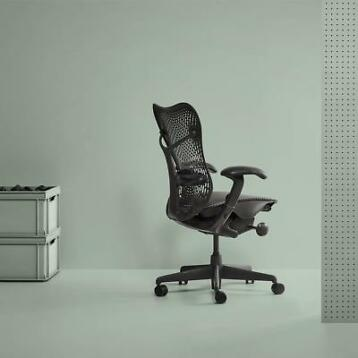 Refurbished Herman Miller Mirra bureaustoelen Graphite €400