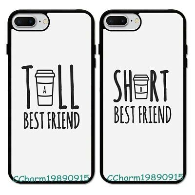 Tall and Short BFF Best Friend Rubber Phone Case Cover For iPhone 8 X XS
