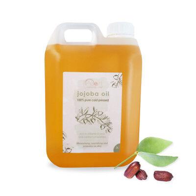 Jojoba Oil 100% Pure Golden  - Cold Pressed, 100% Pure, 2 litre
