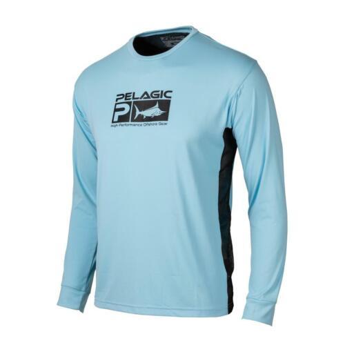 Pelagic Aquatek Pro Light Blue Long Sleeve Performance Shirt