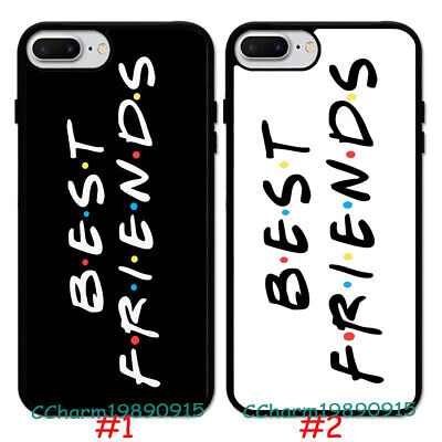 Fashion Best Friend Design Pattern Rubber Case Cover For iPhone 7 8 XS