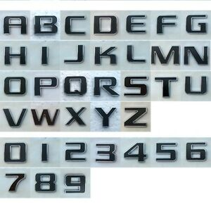3d chrome letters and numbers for car emblem badge schruftzug emblema