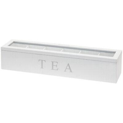 Caja de Té Con 6 Casillas Té, Teebehälter, Madera Transparente Tapa de...