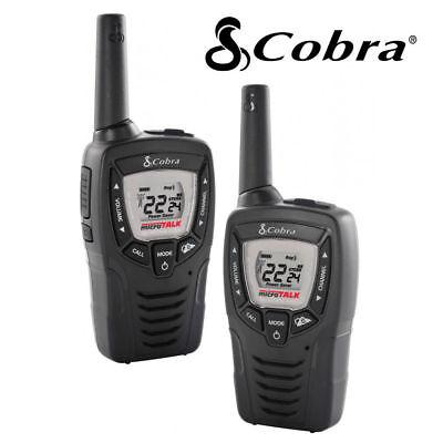2 Pack Cobra 23 Mile Range FRS Two Way Radio Walkie Talkie Set NOAA CX312