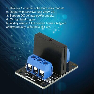 1 Way Solid State Relay Module Board Dc 5v High Level Trigger Ssr For Arduino Kw