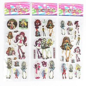 10 x MONSTER HIGH Sticker strips -  Party Bag Fillers Birthday party favours