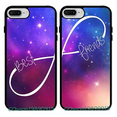 BFF Best Friend Couple Rubber Phone Case Cover For iPhone 7 8 XS&Samsung