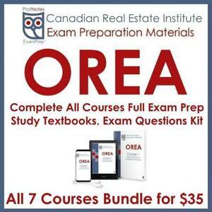 OREA RECO All 7 Courses Real Estate Exam Prep Notes, Practice Questions, Flashcards Humber Licensing Textbooks 2019