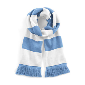 Sky Blue & White Argentina Style Traditional Retro Football Varsity Bar Scarf