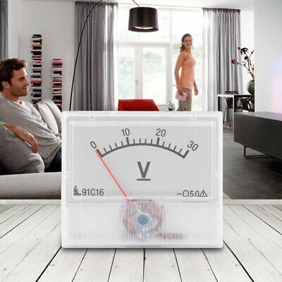 Professional Dc 0-30v Square Analog Volt Voltage Panel Meter Voltmeter Gauge Kw