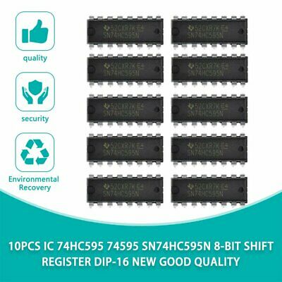 10pcs Ic 74hc595 74595 Sn74hc595n 8-bit Shift Register Dip-16 New Good Quality N