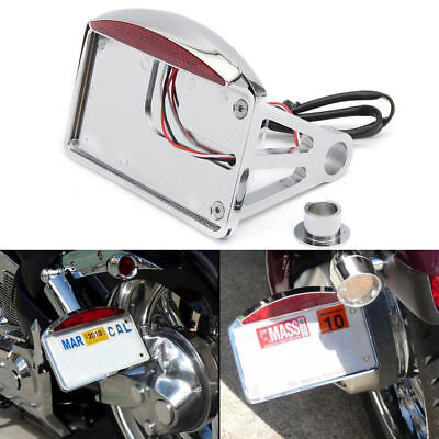 CHROME SIDE MOUNT LICENSE PLATE TAIL LIGHT 4 <em>YAMAHA</em> RAIDER S XV 1900 X