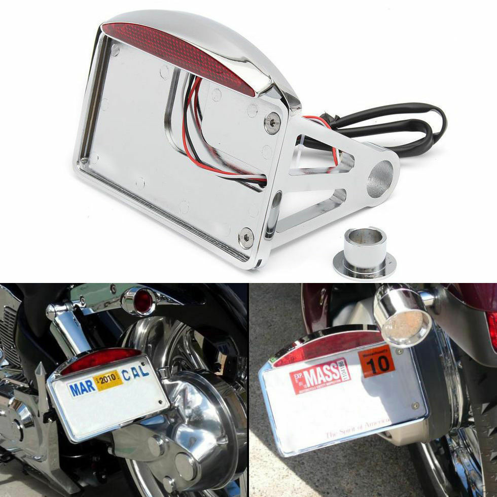 Sidemount Plate LED Taillight For Harley Davidson Road Glide Custom Ultra