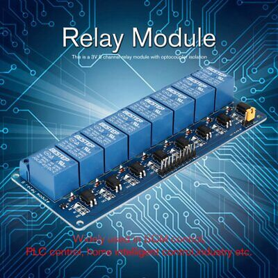 3v 8 Way Relay Module Interface Board Low Level Trigger Optocoupler Arduino Nd