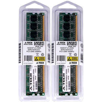 Atech 16GB Kit Lot 2x 8GB DIMM DDR3 DDR-3 Desktop 12800 1600MHz 1600 Ram Memory