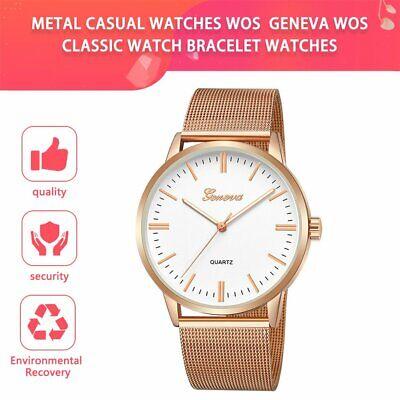 Fashion Casual watches Womens Men GENEVA Womens Classic Watch Bracelet Watches N Casual Classic Womens Watch