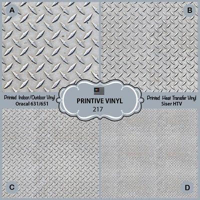 (Diamond metal floor plate Printed HTV, Adhesive Vinyl- 217)
