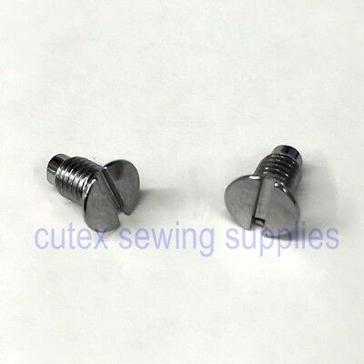 Needle Plate Screw (Set of 2) For Singer 221 Featherweight, 222, 301, 301A