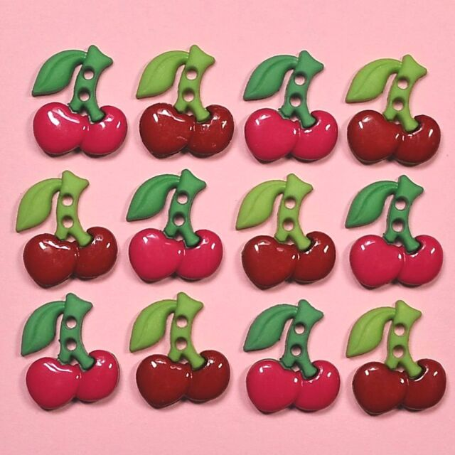 DRESS IT UP Buttons Sew Cute Cherries 6936 - Embellishments